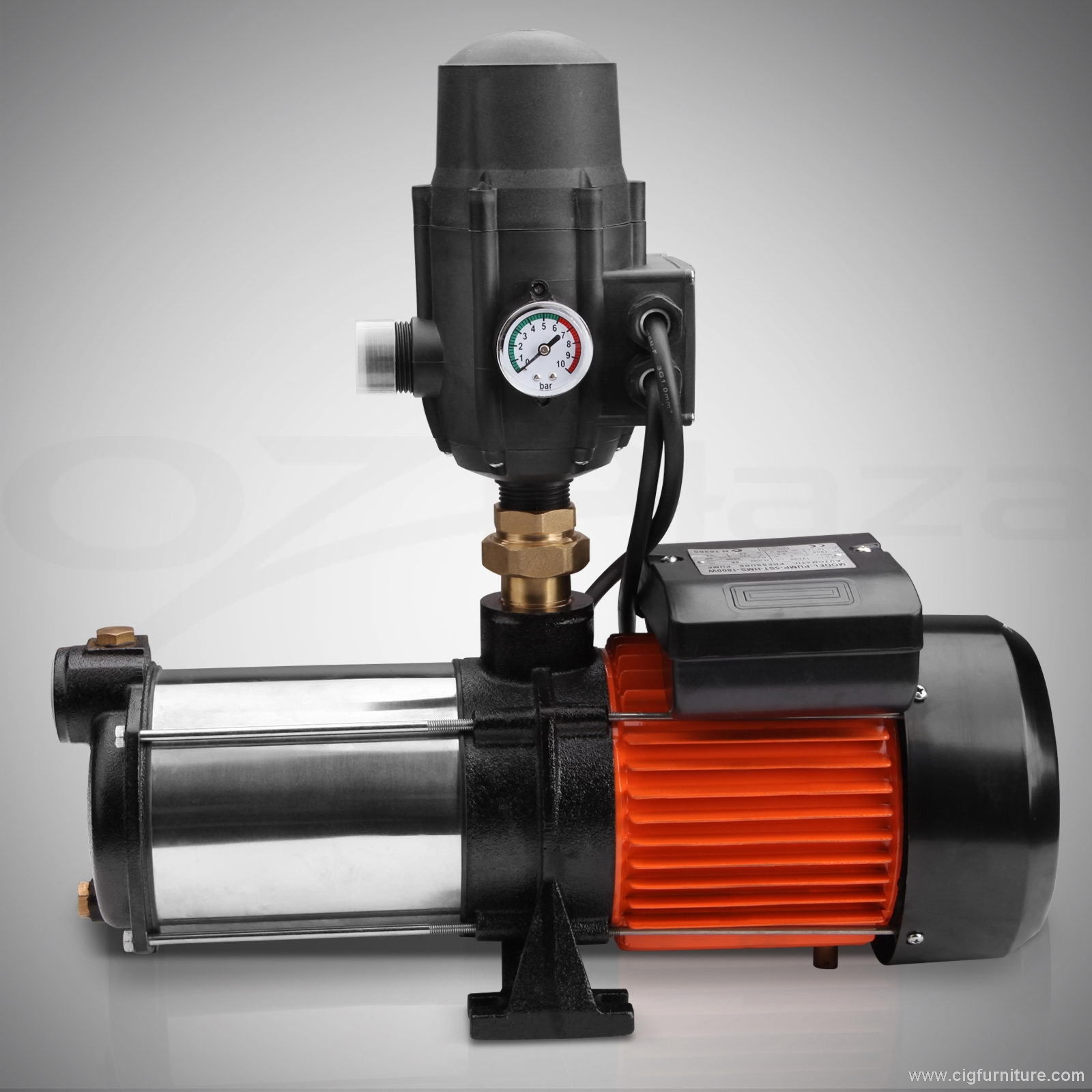 Stainless Steel Multi Stage High Pressure Water Pump Auto Household Garden Tank
