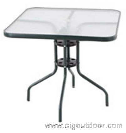 tea table with tempered glass